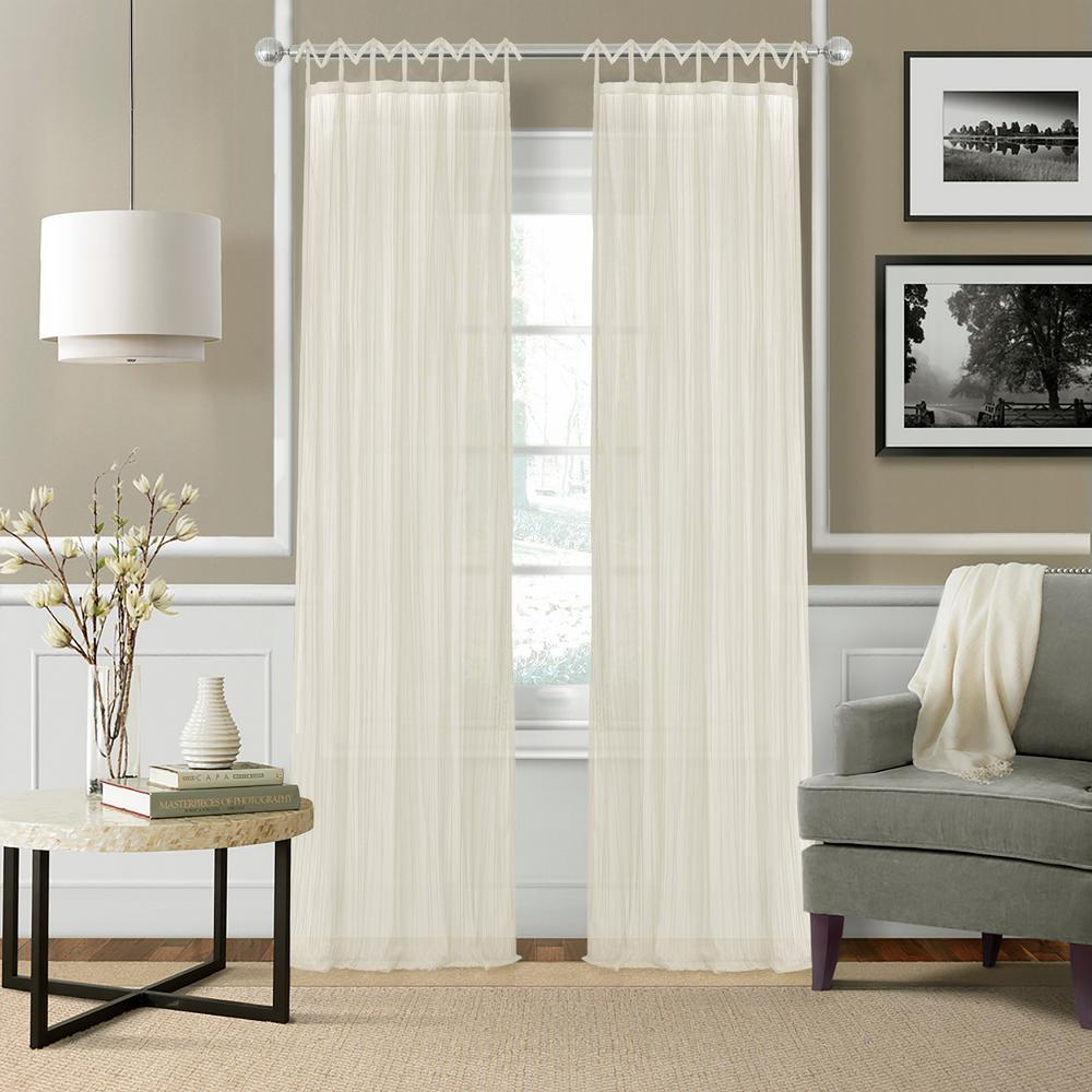 Ivory - Curtains & Drapes - Window Treatments - The Home Depot