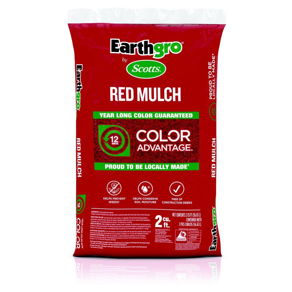 Earthgro Earthgro 2 cu. ft. Red Mulch
