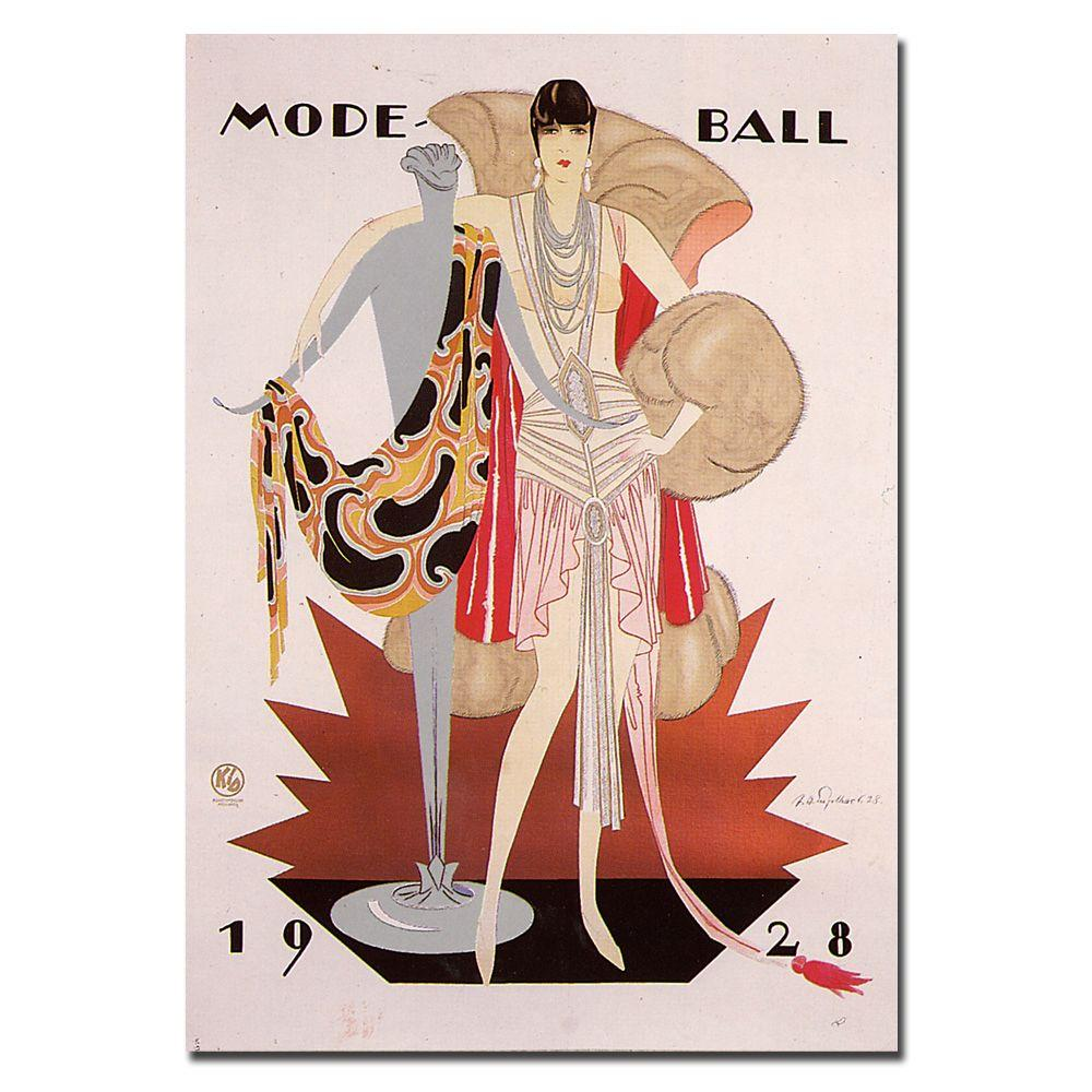 26 in. x 32 in. Mode Ball 1928 Canvas Art