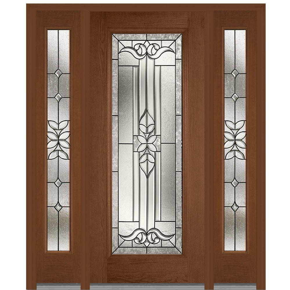 64.5 in. x 81.75 in. Cadence Decorative Glass Full Lite Finished