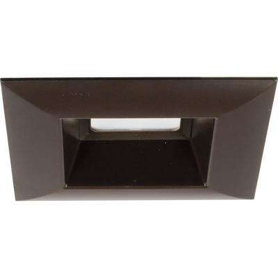 Retrofit Square Collection 5 in. Antique Bronze Integrated LED Recessed Trim