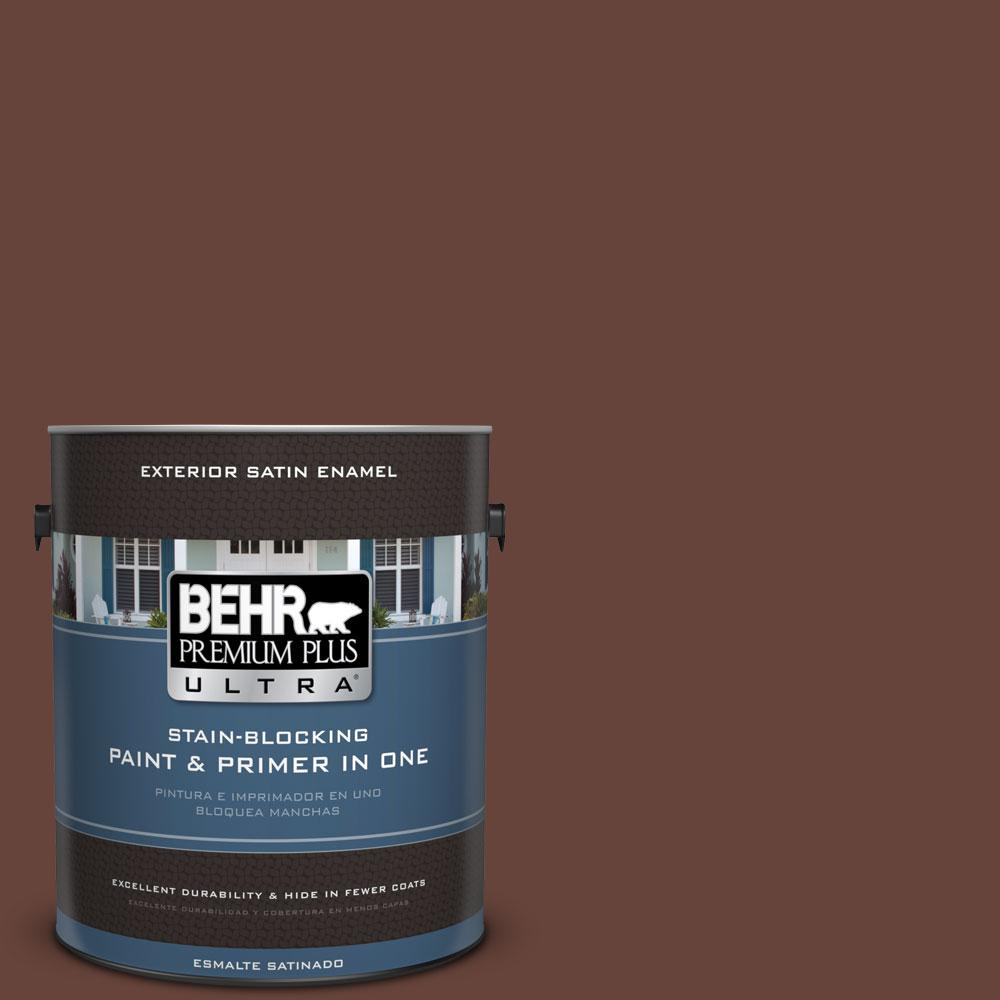 BEHR Premium Plus Ultra 1-gal. #S-G-740 Brown Eyes Satin Enamel Exterior Paint