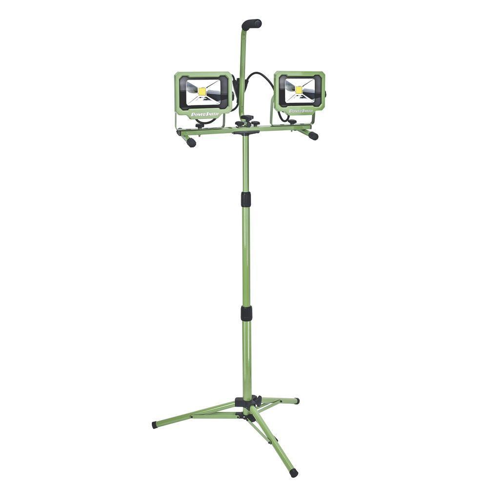 PowerSmith 40-Watt (3000 Lumens) LED Dual-Head Work Light with Tripod