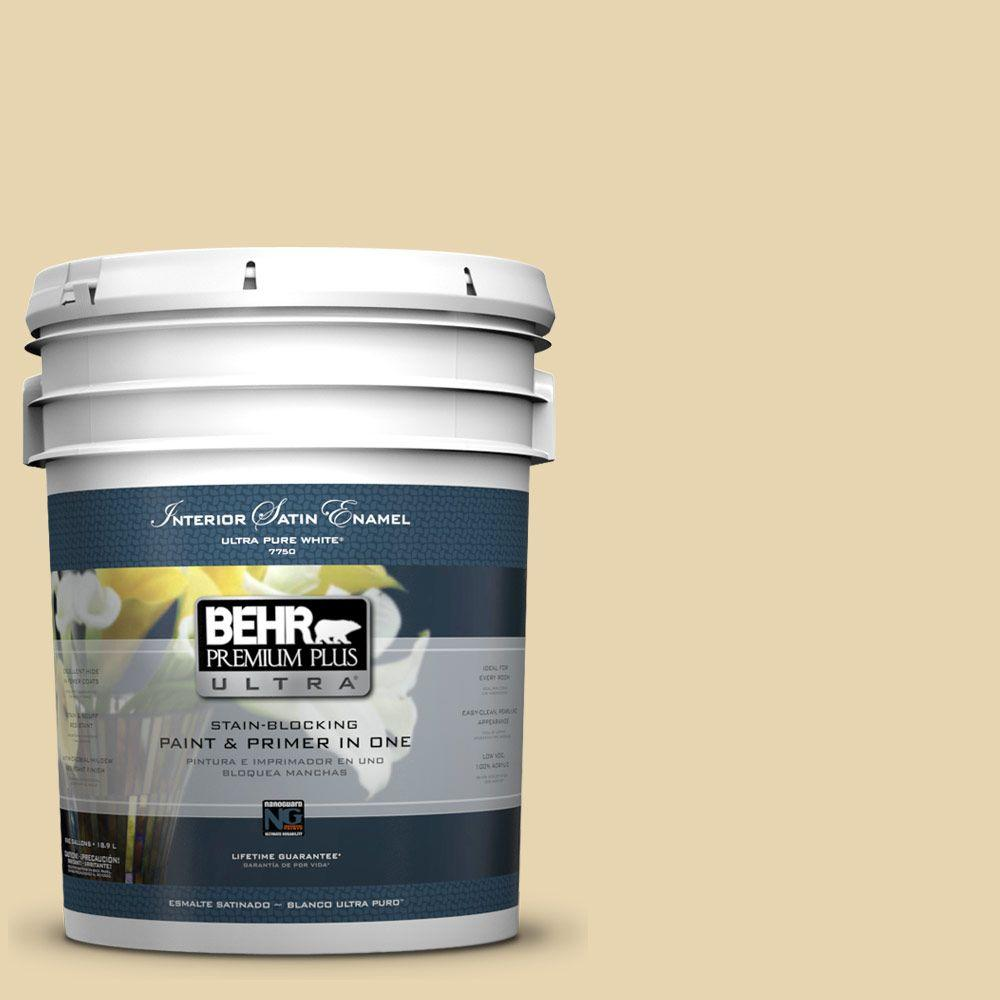 BEHR Premium Plus Ultra 5-gal. #PPF-13 Sunning Deck Satin Enamel Interior Paint