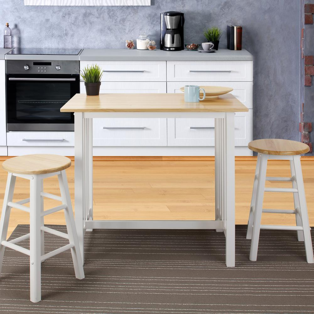 Home styles americana white kitchen island with drop leaf for Casual home kitchen island