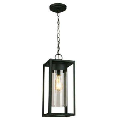 Walker Hill Matte Black 1-Light Hanging Light