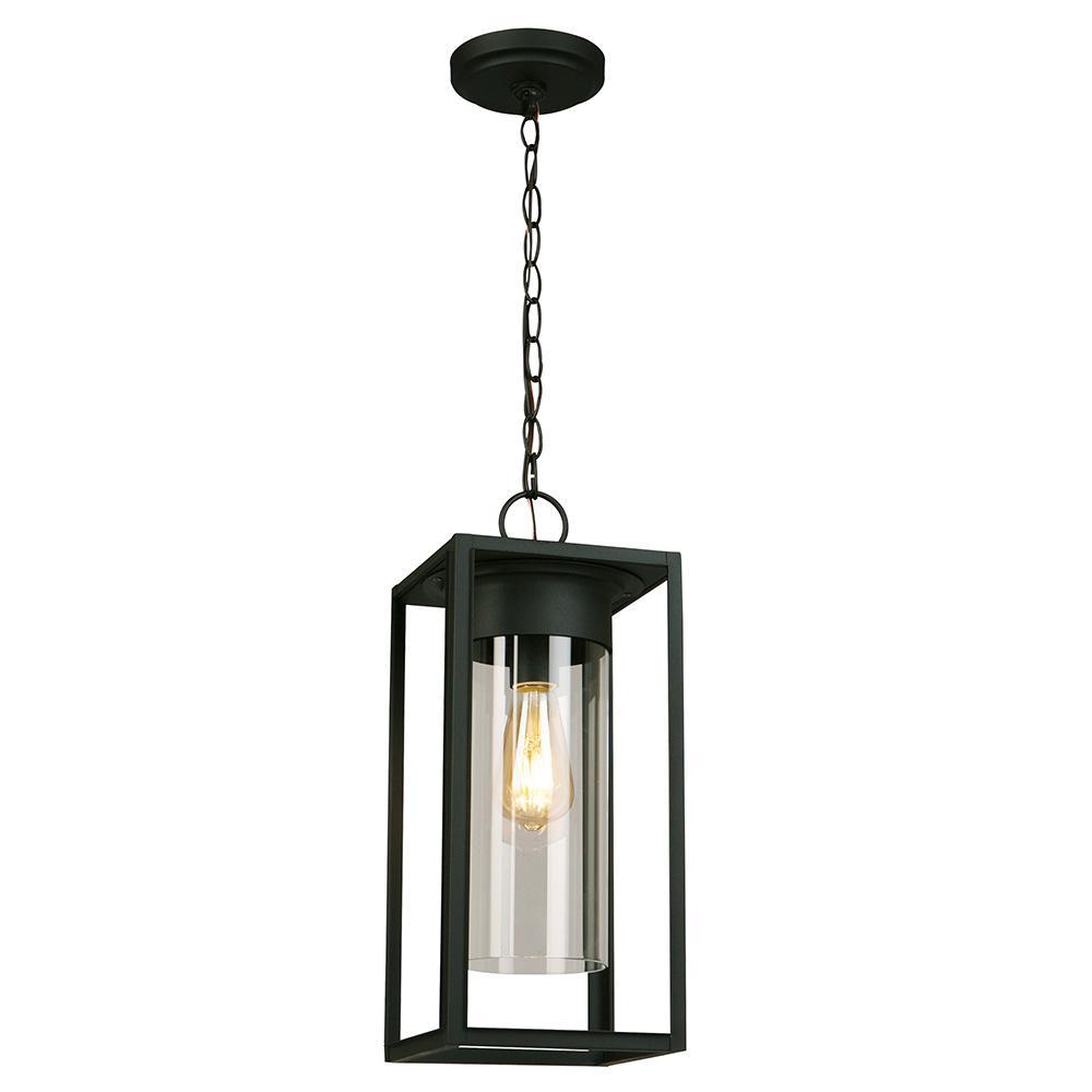 Walker Hill Matte Black 1-Light Hanging Light