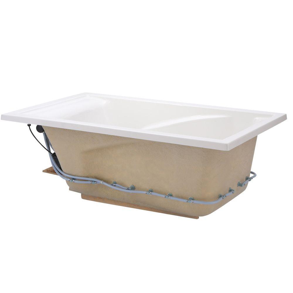 Champion Air 60 in. x 36 in. Air Bath Tub in White