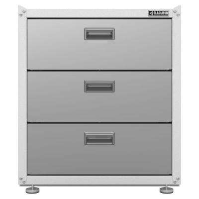 Ready to Assemble 31 in. H x 28 in. W x 18 in. D Steel 3-Drawer Freestanding Garage Cabinet in White