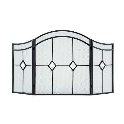 Diamond 3-Panel Fireplace Screen