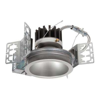 4 in. Aluminum 3500K  New Construction Integrated Recessed LED Kit & Semi-Specular Clear Reflector, 2000 Lumen