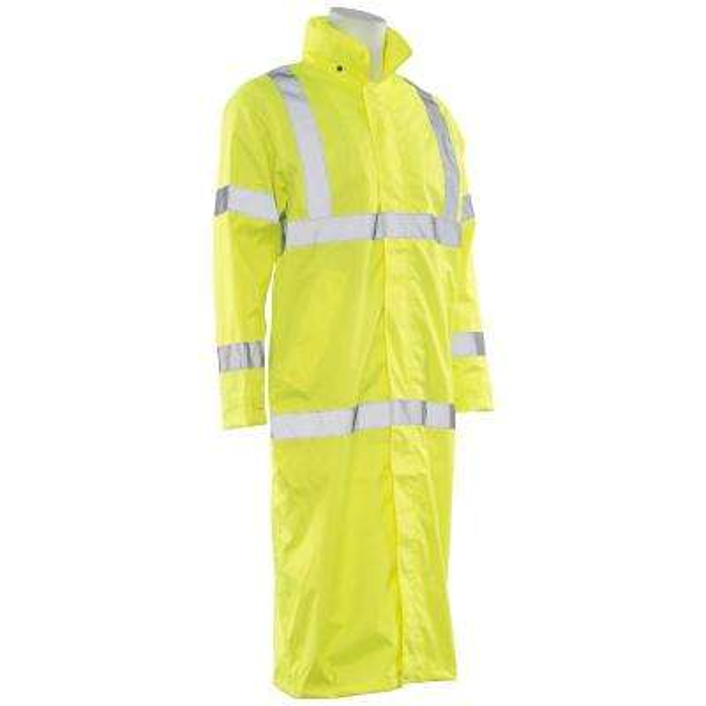 S163 LG HVL Poly Oxford Long Rain Coat