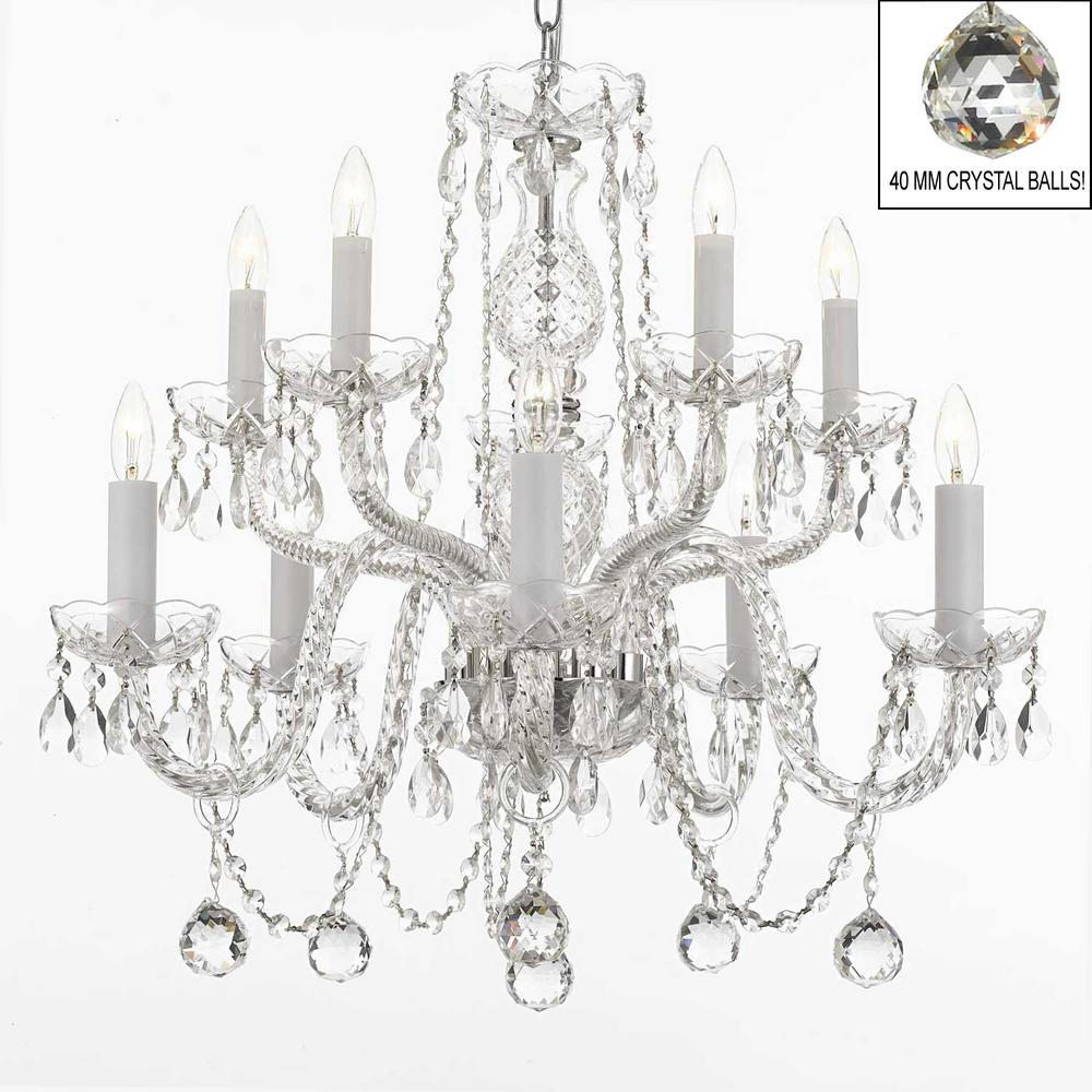 10 light empress crystal chandelier with faceted crystal balls t40 10 light empress crystal chandelier with faceted crystal balls aloadofball Gallery