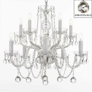 10-Light Empress Crystal Chandelier with Faceted Crystal Balls by