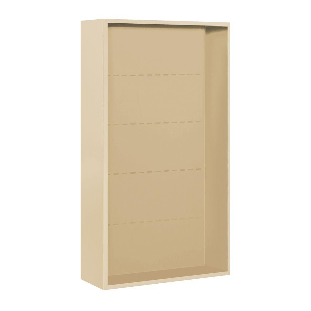 Salsbury Industries 3800 Series 32.25 in. W x 57.125 in. H Surface Mounted Enclosure for Salsbury 3716 Double Column Unit in Sandstone