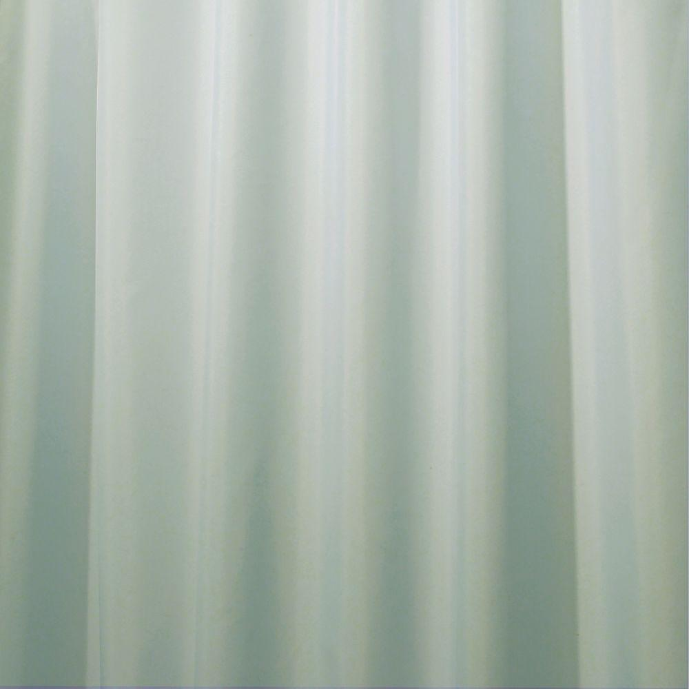 Poly Shower Curtain Liner In Seafoam Green