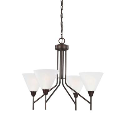 Ashburne 4-Light Burnt Sienna Single Tier Chandelier