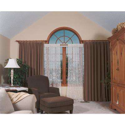Coventry Ivory Lace Curtain 45 in. W 63 in. L