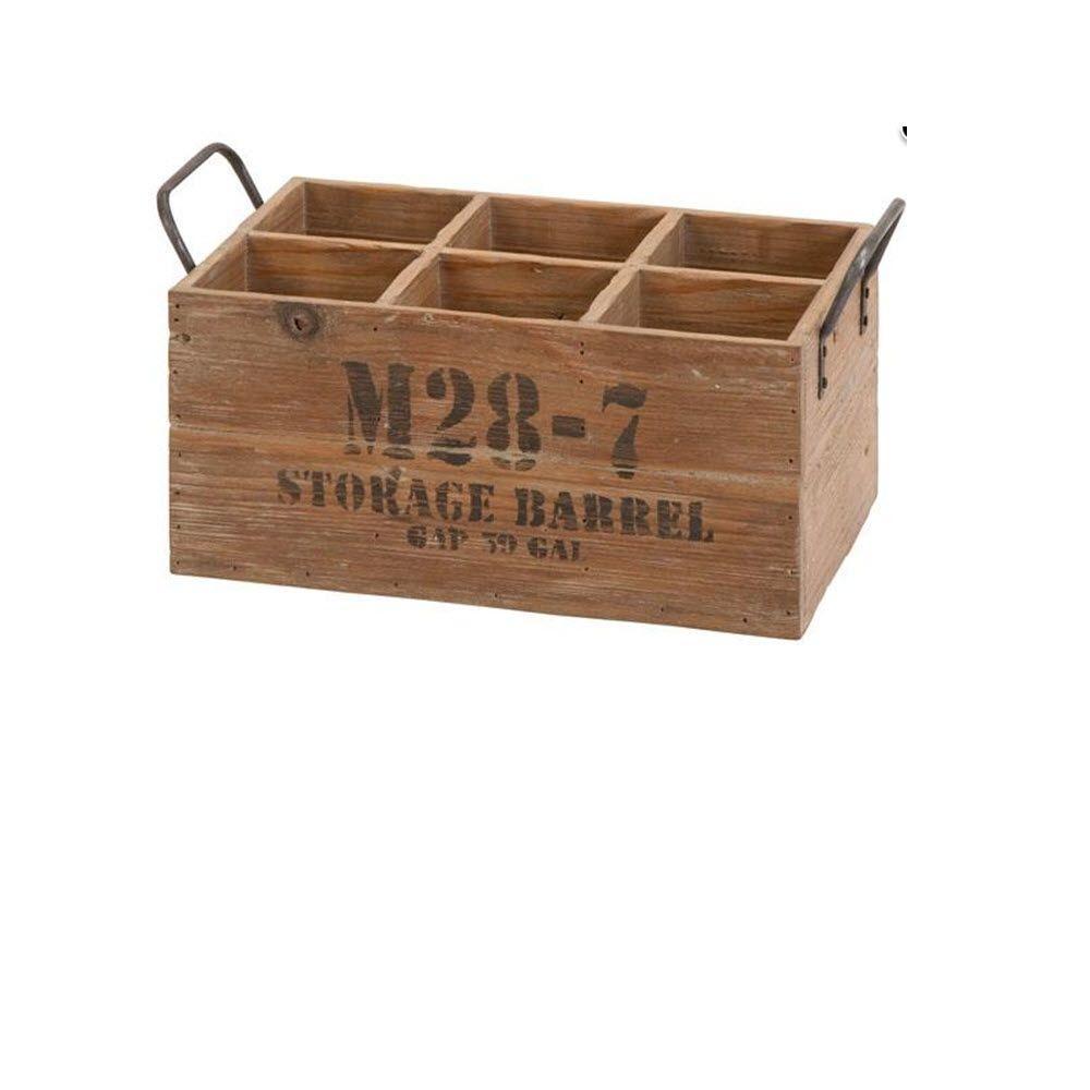 8 in. x 16 in. x 9 in. Rustic Wine Crate in Natural Wood
