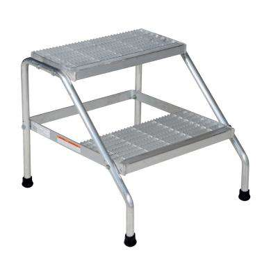 2-Step Aluminum Step Stand - Knock Down
