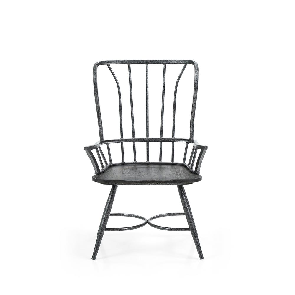 industrial wood and metal dining chair 61159 12 the home depot. Black Bedroom Furniture Sets. Home Design Ideas