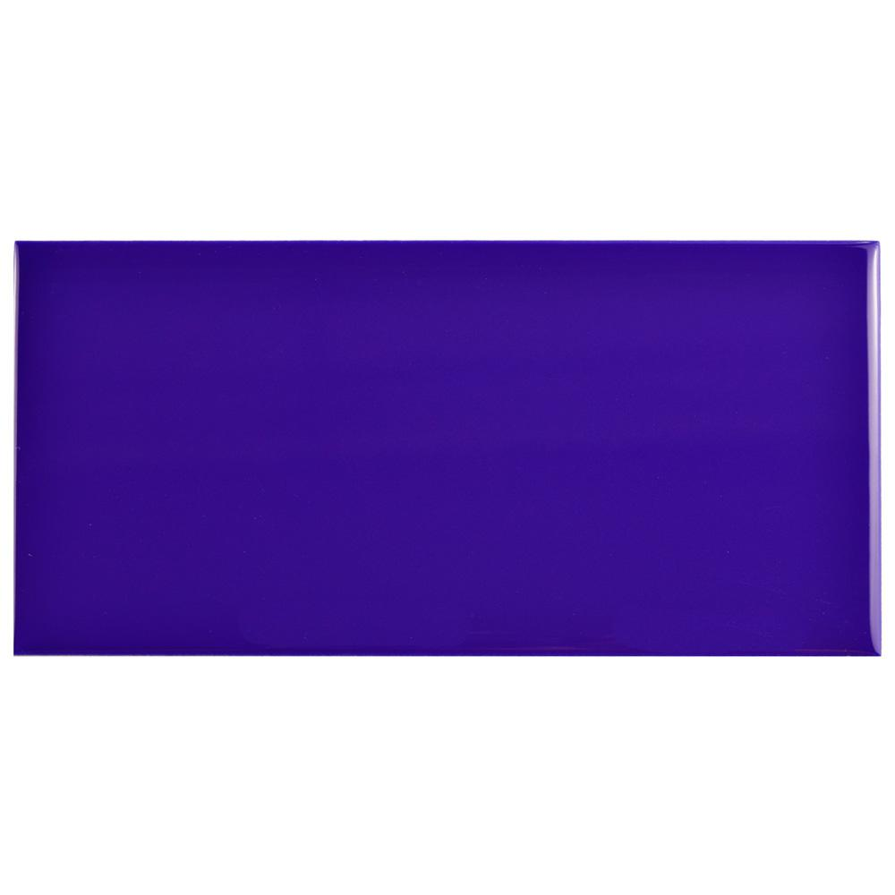 Park Slope Subway Royal Blue 3 in. x 6 in. Ceramic