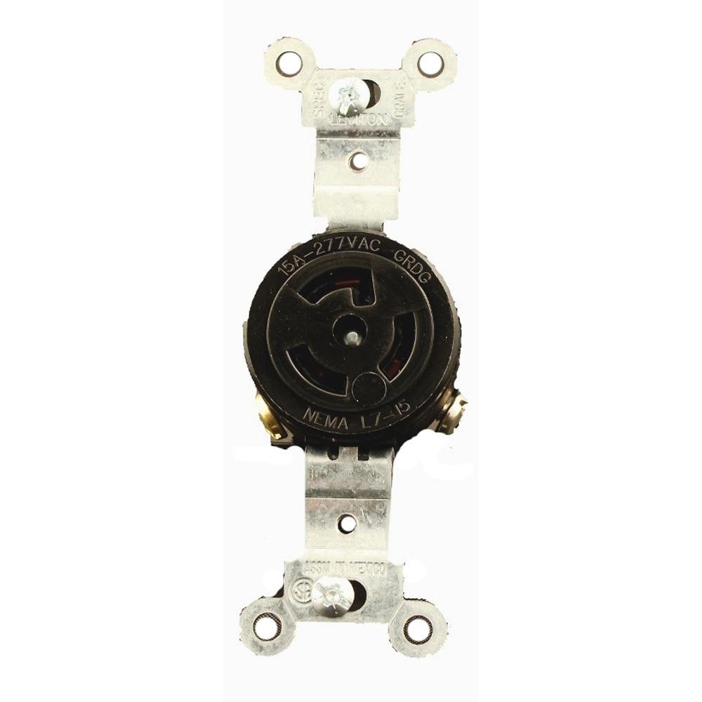30 Amp 125-Volt Flush Mounting Isolated Ground Locking Outlet, Orange