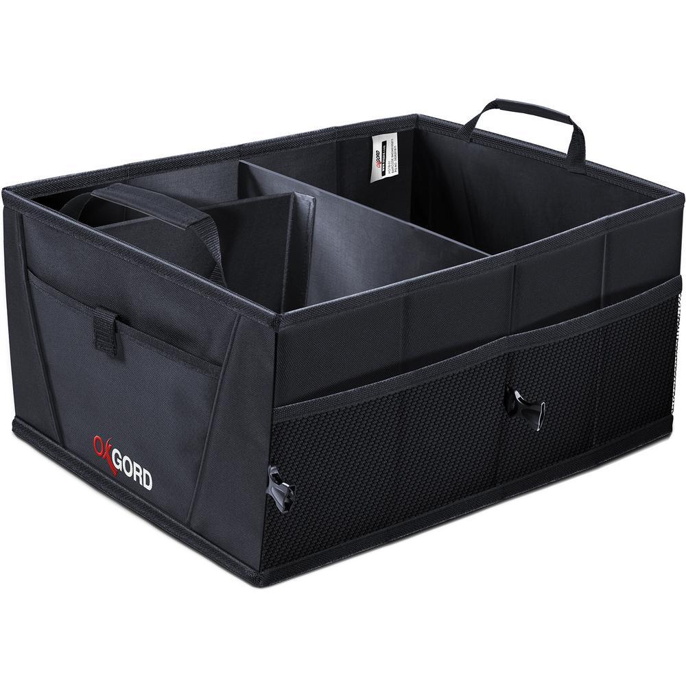 OxGord 21 in. L x 15 in. W x 10 in. Auto Trunk Storage Organizer Bin with Pockets