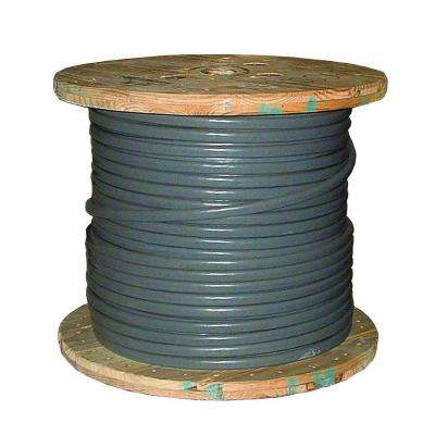 500 ft. 4/0-4/0-4/0 Gray Stranded AL SEU Cable