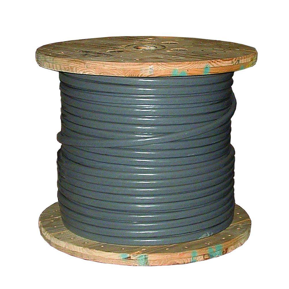 500 ft. 4/0-4/0-2/0 Gray Stranded AL SEU Cable