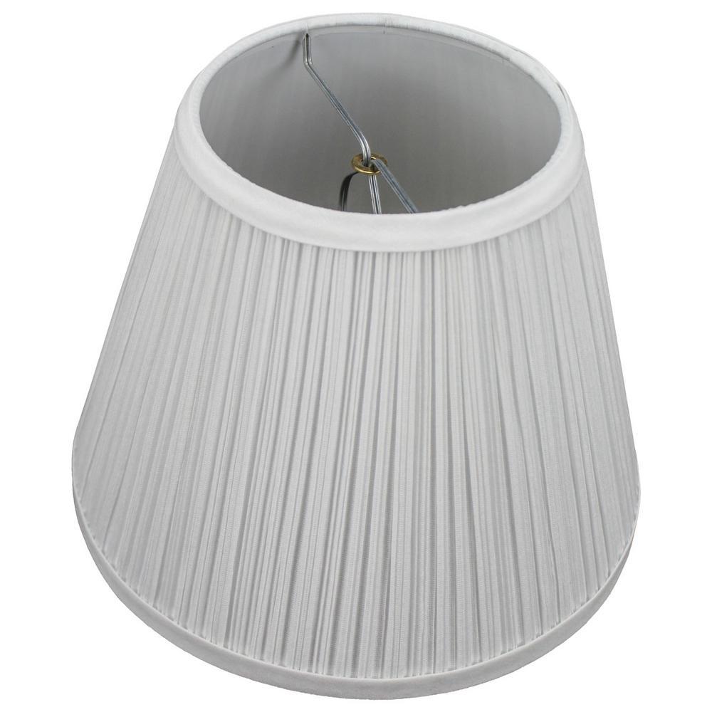 5 in. Top Diameter x 9 in. Bottom Diameter x 7 in. Slant Pleated Mushroom White Empire Lamp Shade
