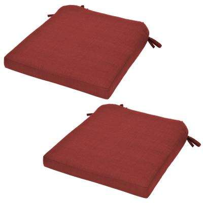 Spring Haven Chili Replacement Outdoor Dining Chair Cushion (2-Pack)