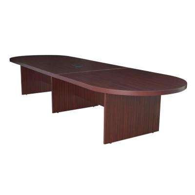 Legacy 168 in. Mahogany Modular Racetrack Conference Table with Power Data Grommet