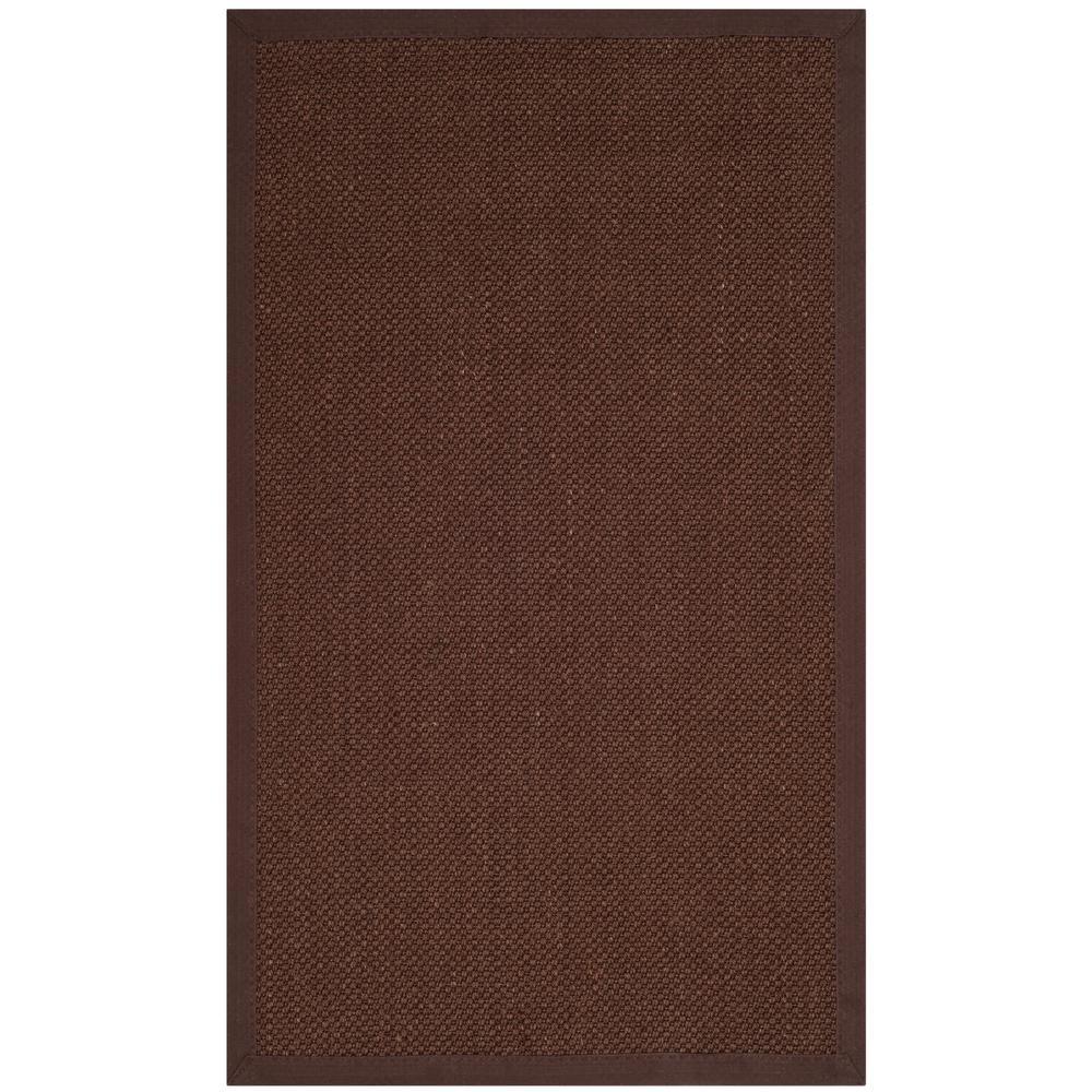 Natural Fiber Chocolate/Dark Brown 3 ft. x 5 ft. Area Rug