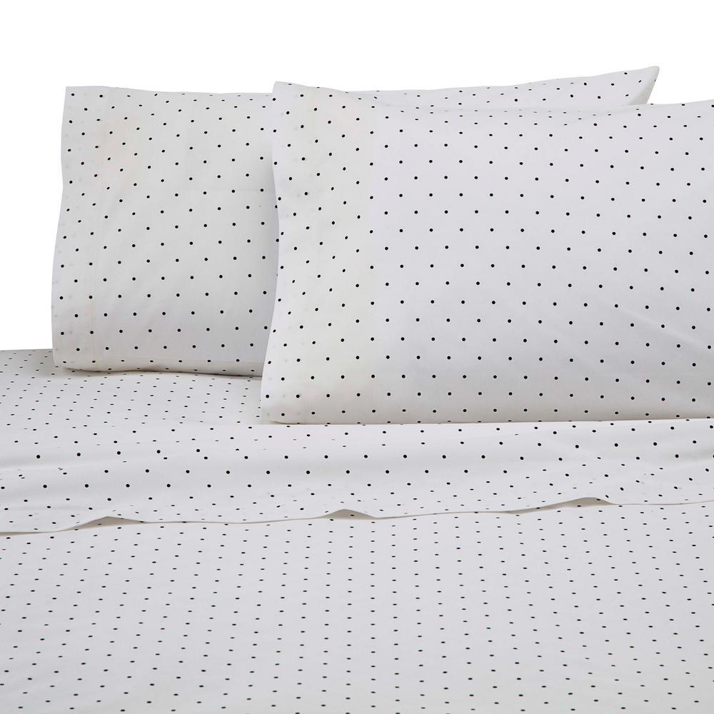 225 Thread Count Black Cotton Queen Sheet Set