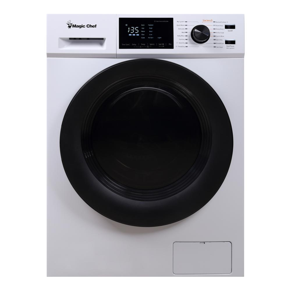 Magic Chef 2.7 cu. ft. All in One Washer and Ventless Dryer Combo in White