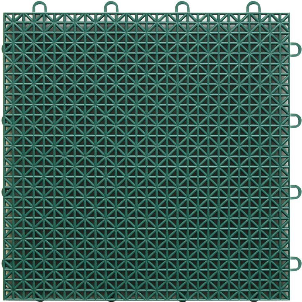 TopDeck Polypropylene Evergreen 1 ft. x 1 ft. Deck Flooring (40-Pack)