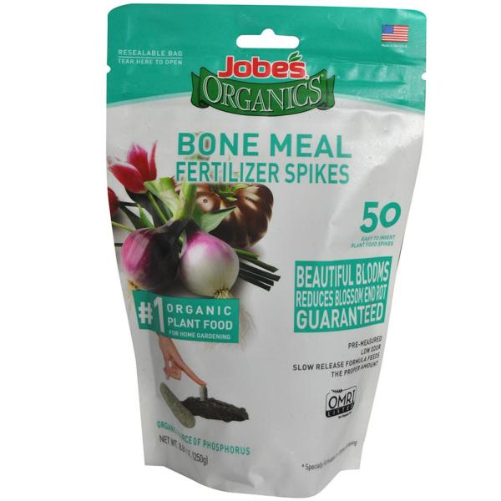 Organic Bone Meal Plant Food Fertilizer Spikes, OMRI Registered (50-Pack)
