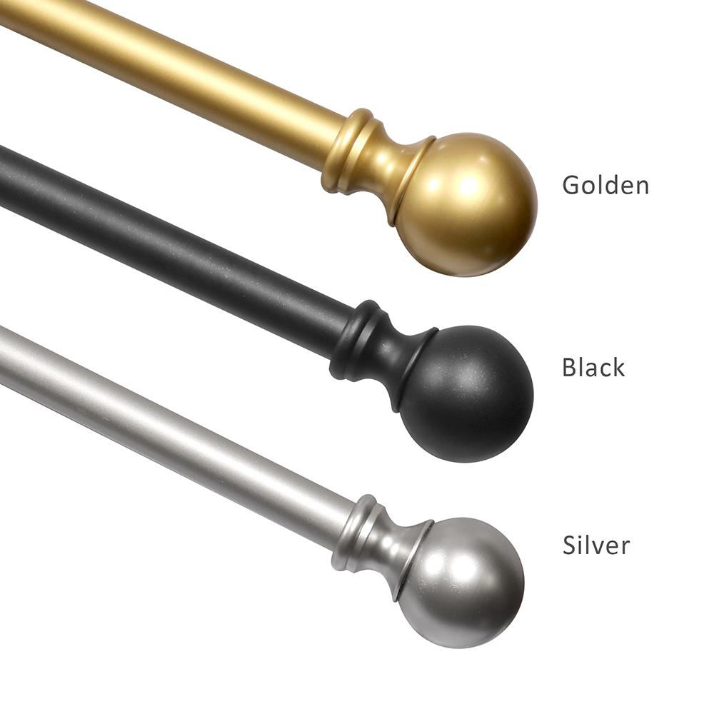 Ideo Bain Grant 28 In 48 In Iron Telescoping 4 In Single Curtain Rod Kit In Sliver Crslh69016s The Home Depot
