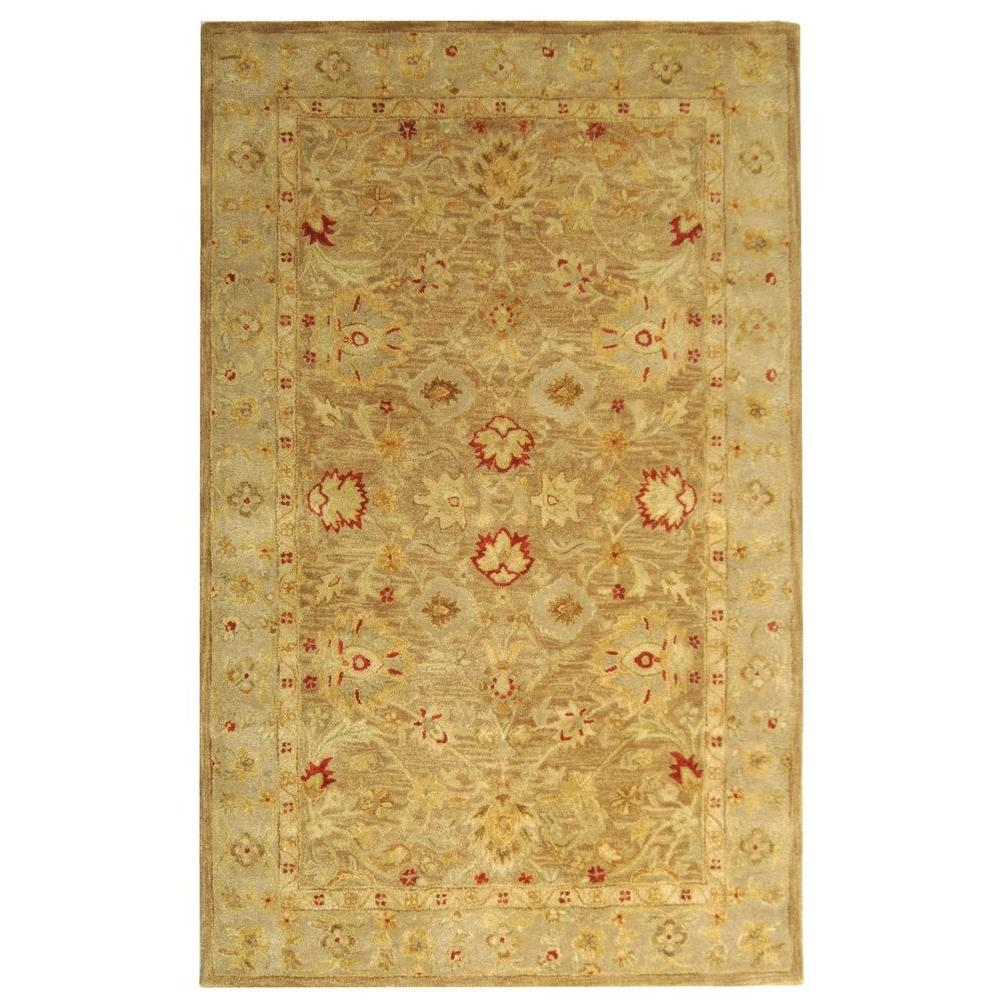 Antiquity Brown/Beige 5 ft. x 8 ft. Area Rug
