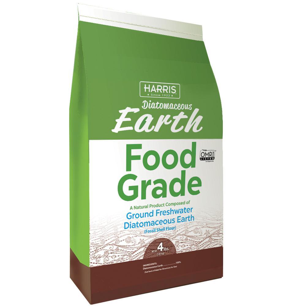 Harris 4 lbs. (64 oz.) Diatomaceous Earth Food Grade 100%