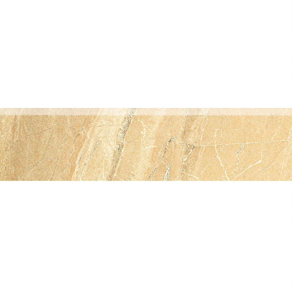 Daltile Ayers Rock Golden Ground 3 in. x 13 in. Glazed Porcelain Bullnose Floor and Wall Tile