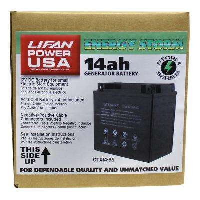 12-Volt 14 Amp Acid Cell Battery for Generators, Pressure Washers and Machines 9 HP and Above