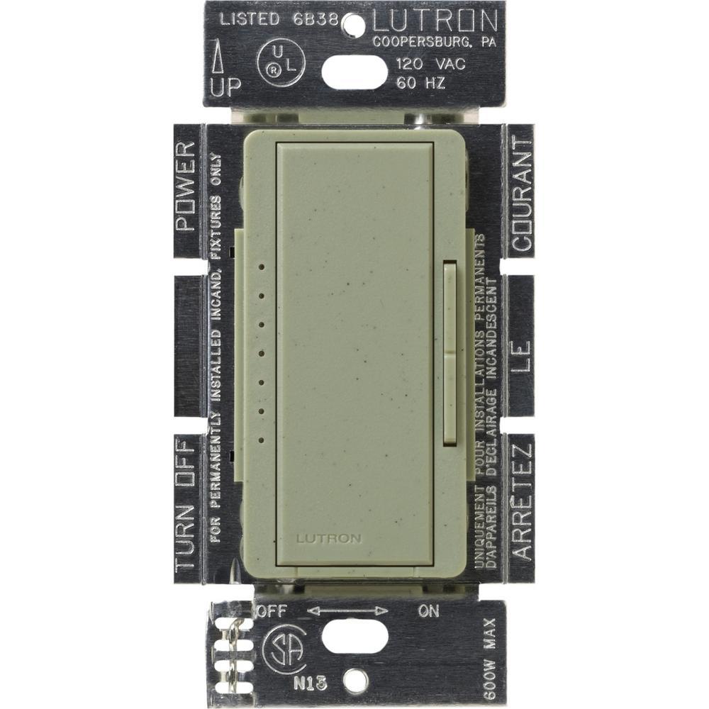 Maestro 600-Watt Multi-Location Electronic Low-Voltage Digital Dimmer, Greenbriar