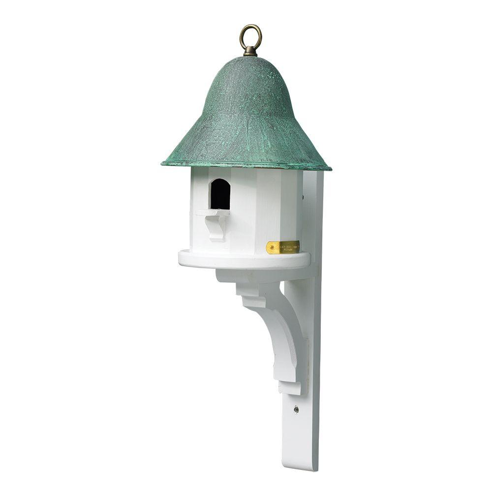 Good Directions Lazy Hill Farm Designs Copper Top Birdhouse With Blue Verde Copper Roof 43430 The Home Depot