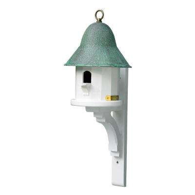 Lazy Hill Farm Designs Copper Top Birdhouse with Blue Verde Copper Roof