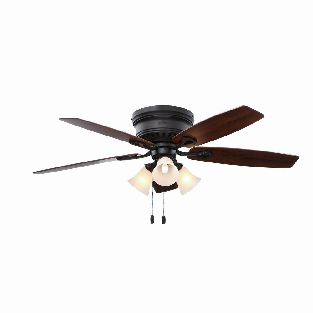 Oakhurst 52 In Indoor Bronze Low Profile Ceiling Fan With Light