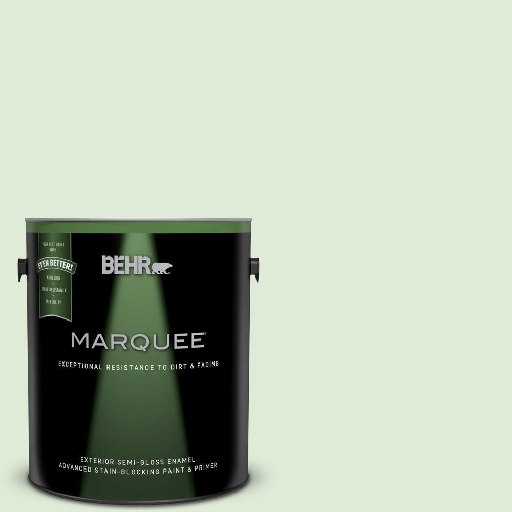 BEHR MARQUEE 1-gal. #M390-2 Misty Meadow Semi-Gloss Enamel Exterior Paint