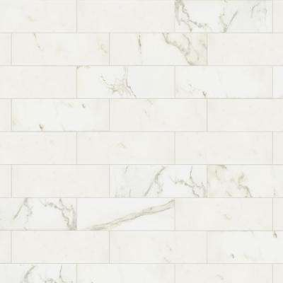 Developed by Nature Calacatta 4 in. x 12 in. Glazed Ceramic Wall Tile (10.64 sq. ft. / case)