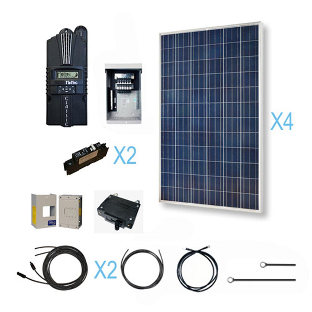 Grape Solar 200 Watt Off Grid Solar Panel Kit Gs 200 Kit